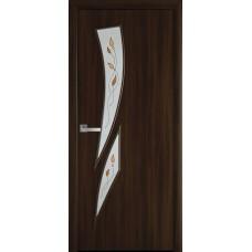 Дверне полотно Екошпон Камея 800 горіх 3D +Р1