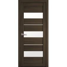 Дверне полотно Екошпон Лілу 600 кедр +скло