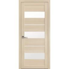 Дверне полотно Екошпон Лілу 900 дуб перлинний +скло