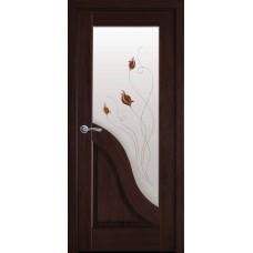 Дверне полотно ПВХ Делюкс Амата 600 каштан +Р1